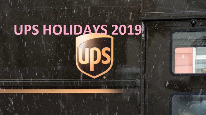 ups holidays 2019