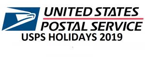 usps holidays 2019