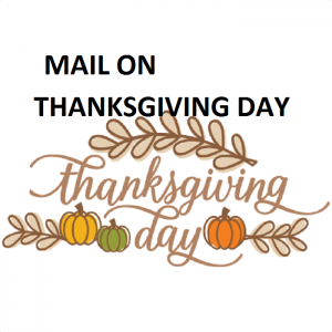 does mail run on thanksgiving day