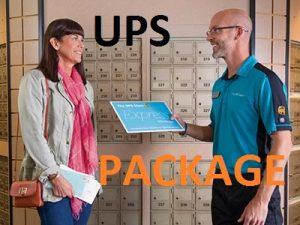 pick up ups package befrom delivery
