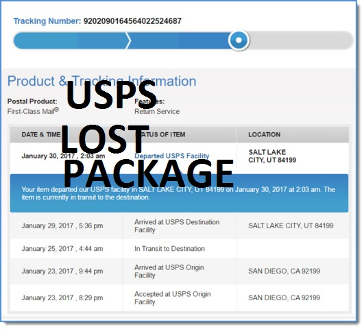 usps lost package